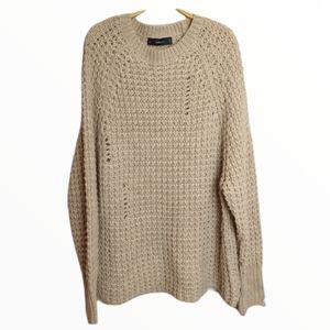 Zara Oversized distressed Knit sweater / tunic